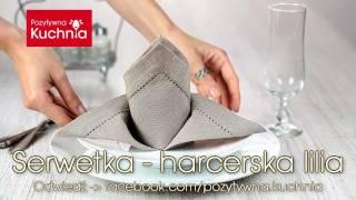 Jak złożyć serwetkę w lilię harcerską (koronę) | DOROTA.iN
