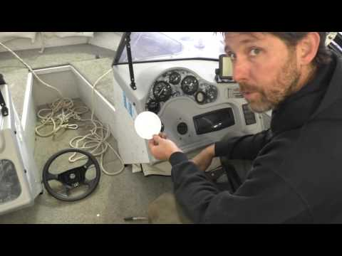 Installing HyDrive hydraulic steering in a boat