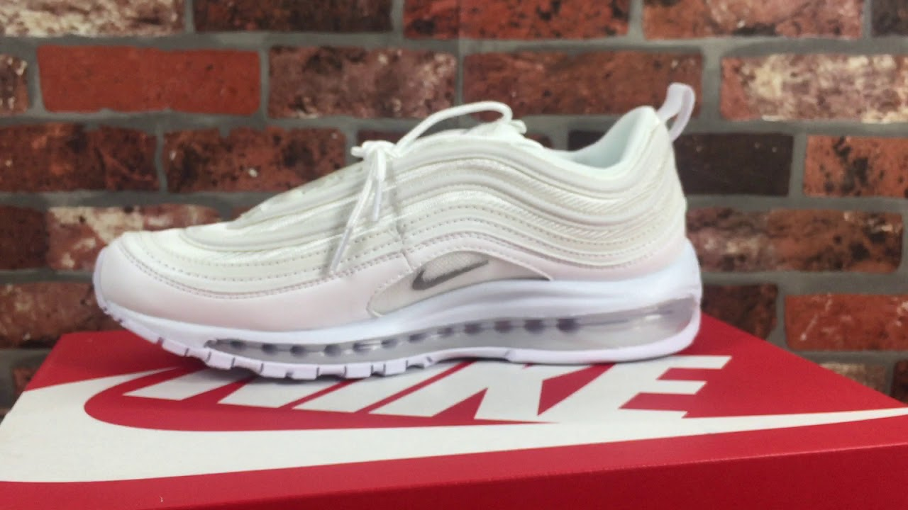401b080748d4 Nike Air Max 97 Triple White Unboxing Detail Review 921826 101 - YouTube