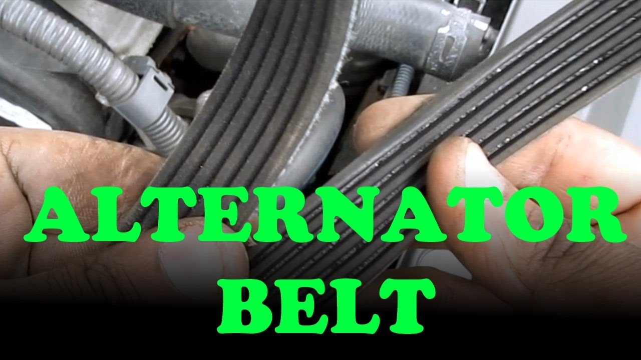 Alternator  Power Steering Belt Replacement Toyota Camry V6  Lexus ES330  YouTube