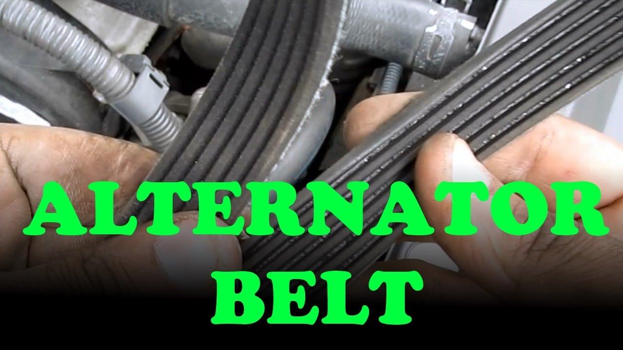 Alternator  Power Steering Belt Replacement Toyota Camry V6  Lexus ES330  YouTube