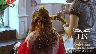 """Ульяна Старобинская. Видеоурок: """"Голливудские локоны с накладными волосами и макияж Smoky Eyes"""""""