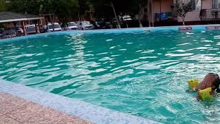 Дети купаются в бассейне 1