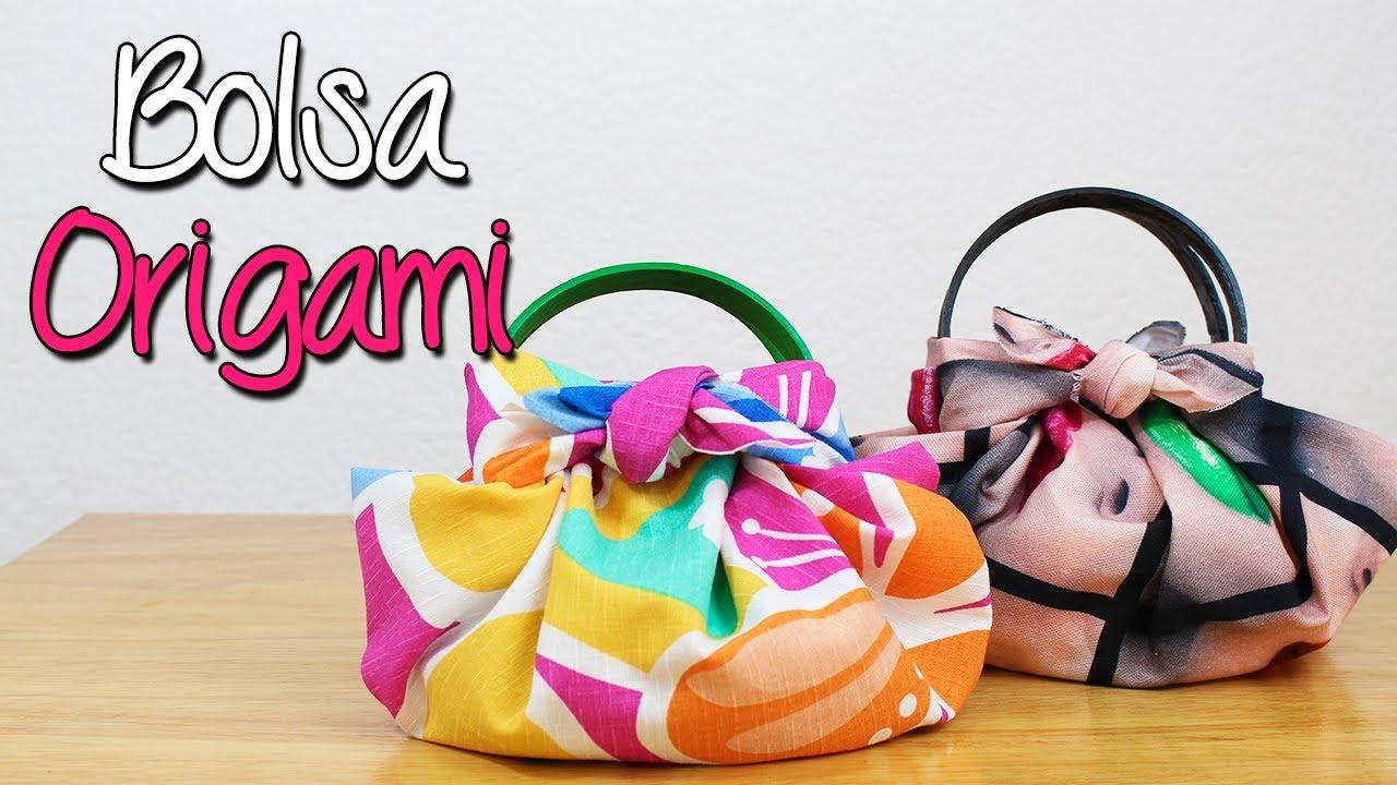 659428f56 Bolsa Origami - ¿Cómo hacer? Bolsa de tela fácil y sin coser - DIY ...