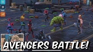 Marvel Strike Force - Level 23 Gameplay + Avengers Boss Battle - IOS/Android Mobile 2018