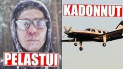 Jäätynyt mies pelastettiin Suomessa! Lentokone katosi tyhjyyteen Englannissa