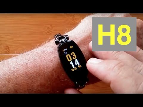 BAKEEY H8 Women's IP67 Waterproof Blood Pressure Diamond Smart Bracelet: Unboxing & Review