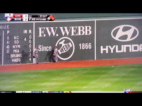 Grady Sizemore walk off RBI off the green monster