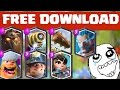 ALL OFFICIAL CLASH ROYALE SUPERCELL LEGENDARY CARDS SOUND EFFECTS + FREE DOWNLOAD LINK!