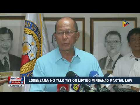 Lorenzana: No talk yet on lifting Mindanao Martial law