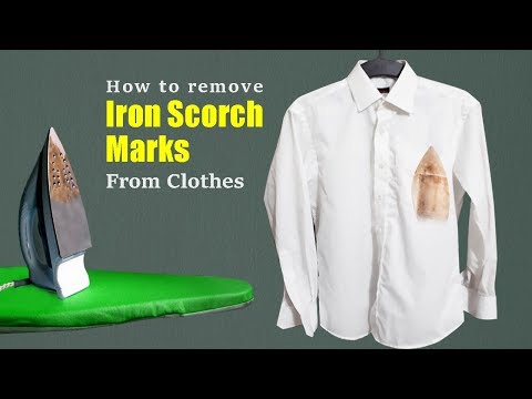 How to remove iron scorch marks from clothes   Easy & effective method