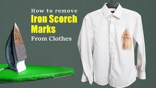 How to remove iron scorch marks from clothes | Easy & effective method