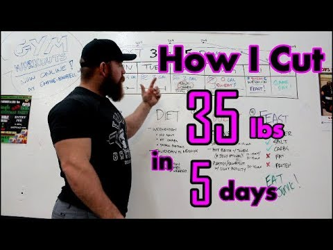Water Loading And Cutting Weight: How I Cut 35lbs In 5 Days (Plus FREE Ebook!)