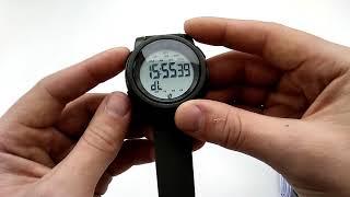необычные водостойкие часы Skmei 1469 green с шагомером обзор, настройка, инструкция на русском