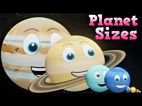 Planet Sizes for Kids   Solar System Sizes