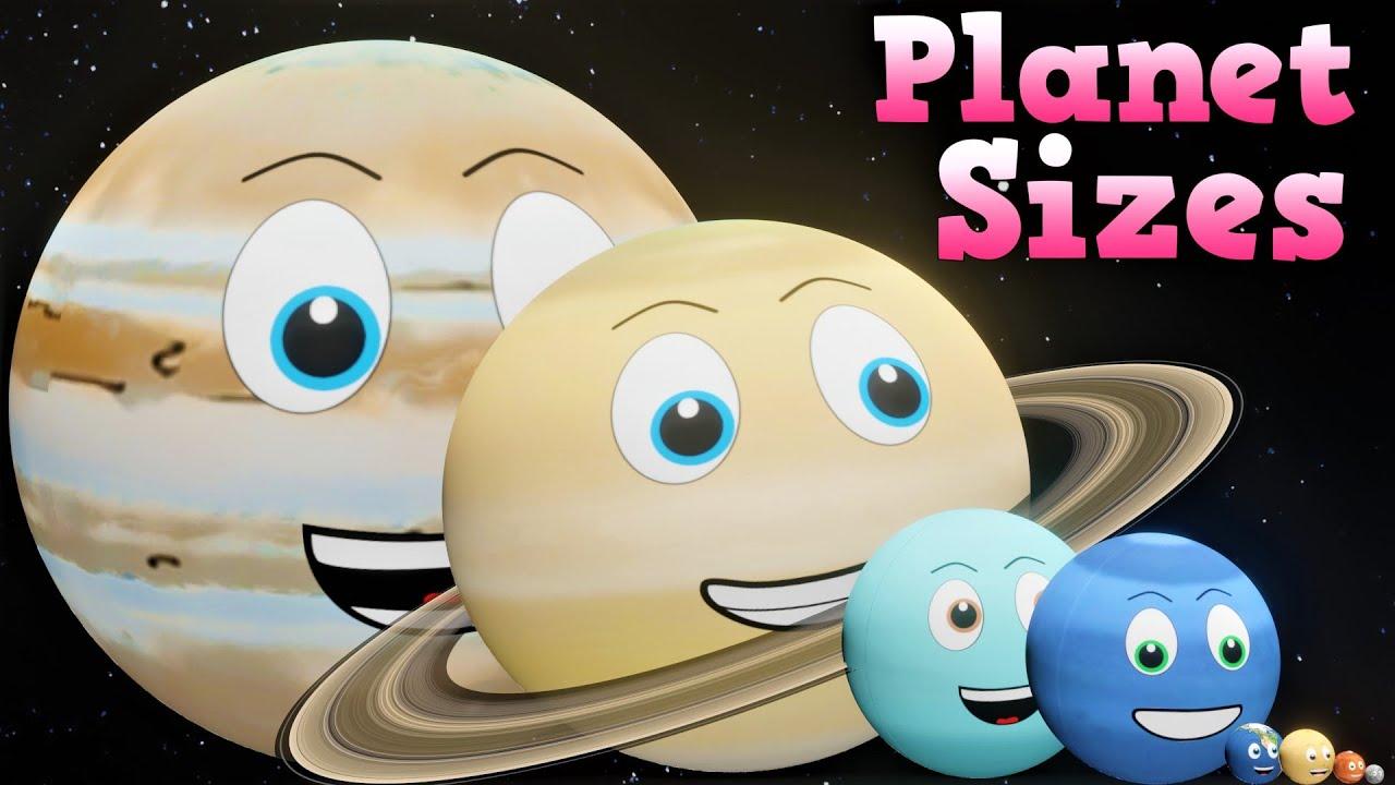 Planet Sizes for Kids | Solar System Sizes