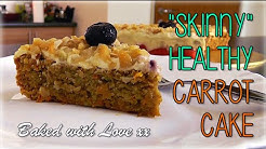 """Skinny"" Healthy Carrot Cake Recipe (No Butter or Sugar!)"
