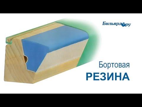 Бортовая резина для бильярдных столов