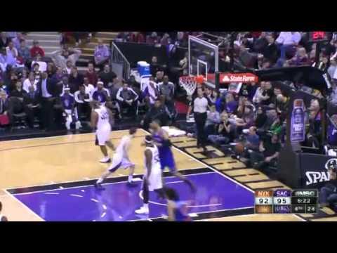 Chandler MONSTER Slam | New York Knicks Vs Sacramento Kings | 12/28/2012 | NBA Season 2012/13