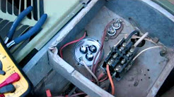 How to fix your AC - Fan kicks on but Compressor Not Working - Replacing run start capacitor