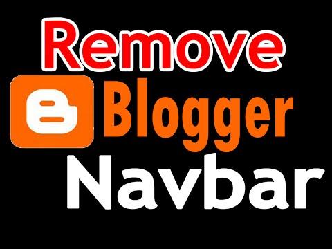 How To Remove Blogger Navbar | Turn Off Navbar From Blog