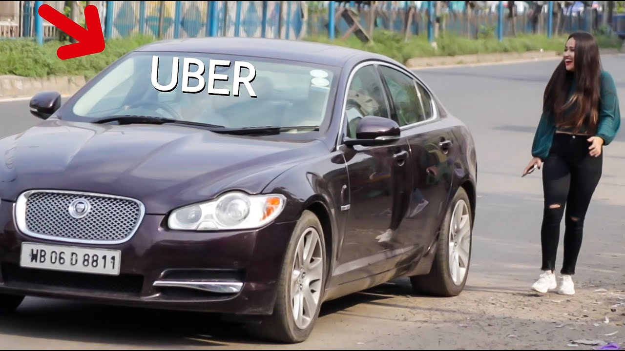 | PICKING UP UBER RIDERS in a JAGUAR - UBER RIDE PRANK with a JAGUAR  | Canbee Lifestyle |