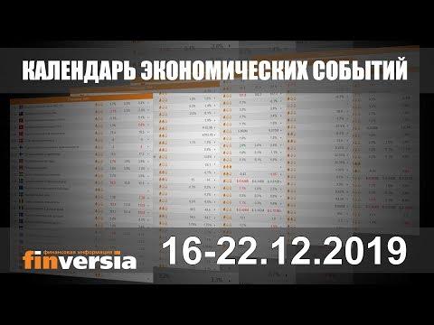 Календарь экономических событий. 16-22.12.2019 от Finversia.ru