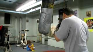 Hittin the Heavy at the lasy days in the  Newark Ivy Hill  Boxing Gym 2010.