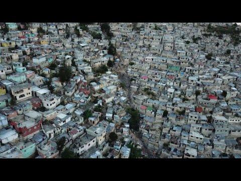 Poverty in Haiti seen in Port-au-Prince's Jalousie neighborhood