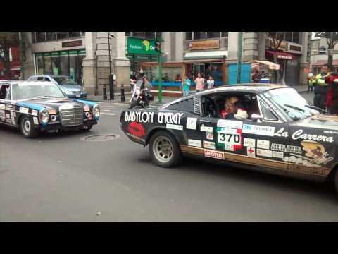 Autos de la carrera panamericana en toluca