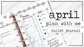 PLAN WITH ME | Bullet Journal Monthly Setup - April 2017