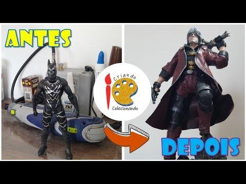 Transformando o Pantera Negra no Dante (Devil May Cry) - TOY MAKEOVER thumbnail
