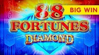 GREAT MULTIPLIER! 88 Fortunes Diamond Slot - BIG WIN BONUS!