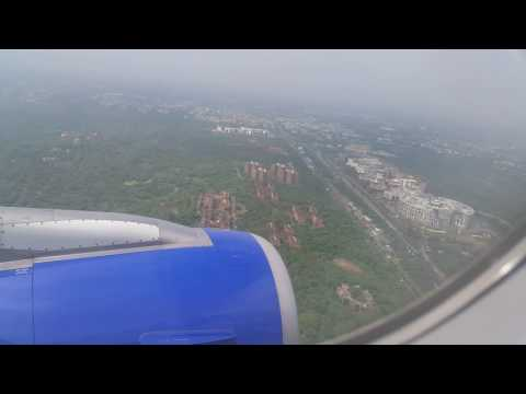 Indigo Airlines from Kochi Landing at Delhi Airport on 18th July 2016