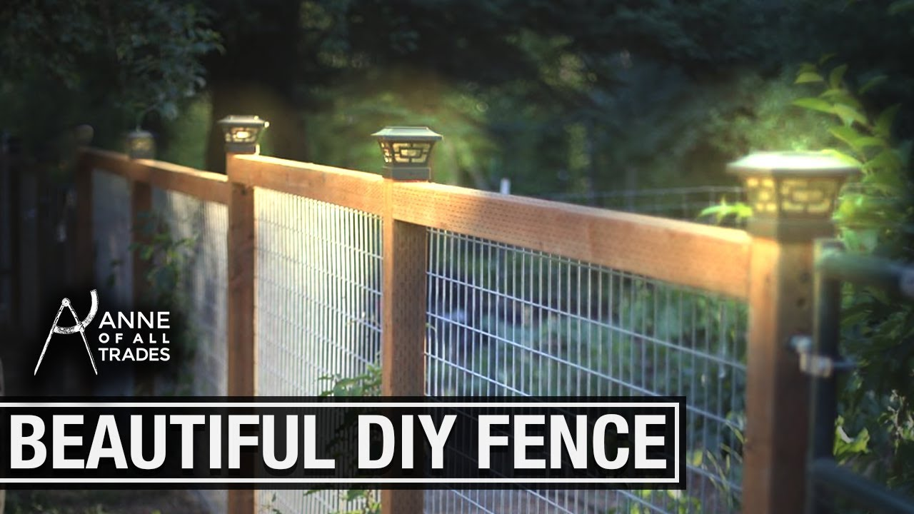 Easy Beautiful Diy Fence Youtube