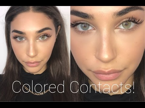 COLORED CONTACTS TRY ON & REVIEW!! SOLOTICA (DISCOUNT CODE) || Chantel Jeffries