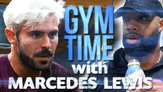 I Train with NFL Great Marcedes Lewis | Gym Time w/ Zac Efron