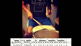 DRUMS -  Flams and Doubles  Etude -  Flam de Frambuesa - Drum Etude #14