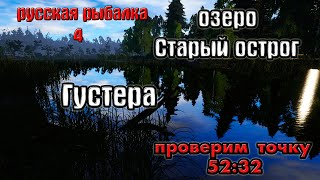 Русская рыбалка 4 рр4 озеро Старый острог Густера