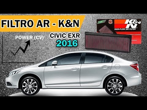 Honda Civic - Instalação Filtro K&N - | Performance |