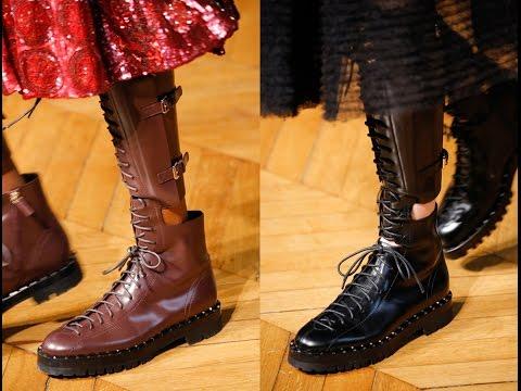 Высокие ботинки на шнурках — модная альтернатива ботфортам