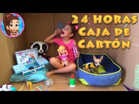 24 HORAS EN UNA CAJA DE CARTÓN CON PÍCHU MY CHIHUAHUA DOG | RETO | CHALLENGE