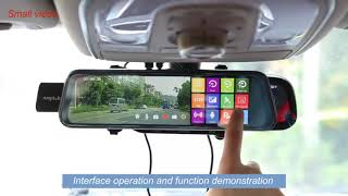 Anytek T12+ 9 66 inch Car Rearview Mirror DVR Camera Dual Lens Dash Cam 1