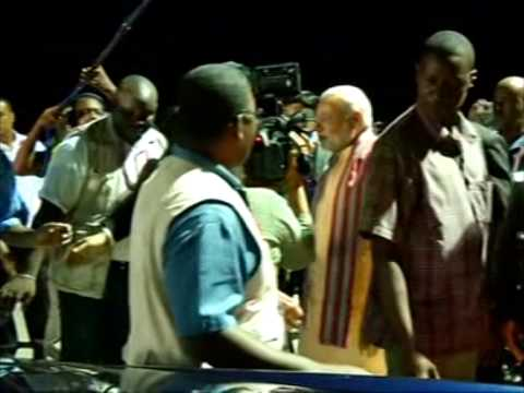 11 March, 2015 - Indian PM Narendra Modi arrives in Seychelles for bilateral visit