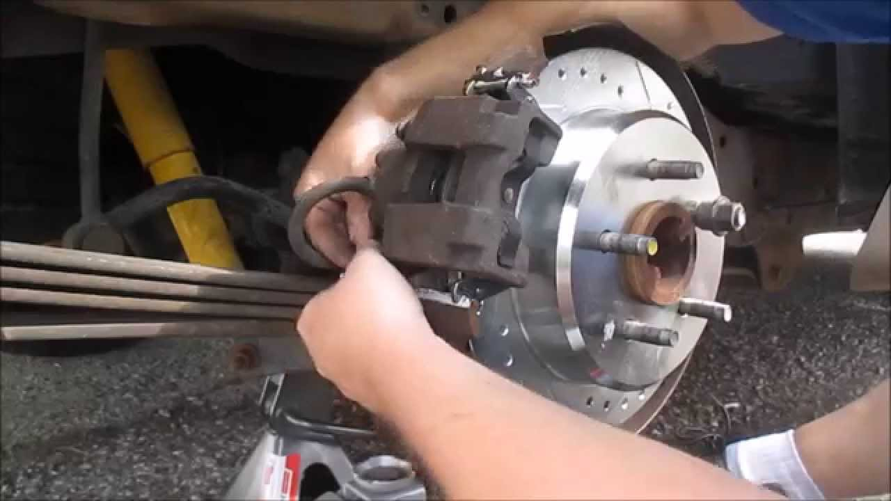 Ford Explorer Rear Rotors And Brake Pad Replacement Youtube