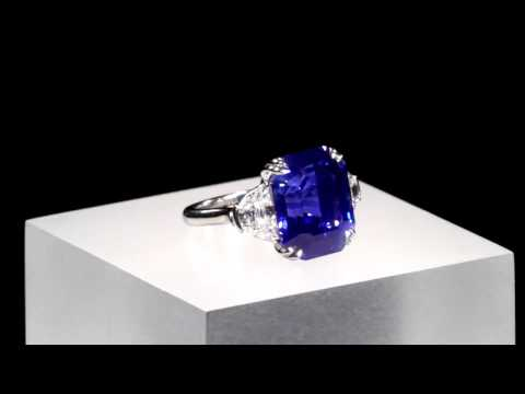 Untreated Kashmir Sapphire Ring 18.5 Carats from M.S. Rau Antiques