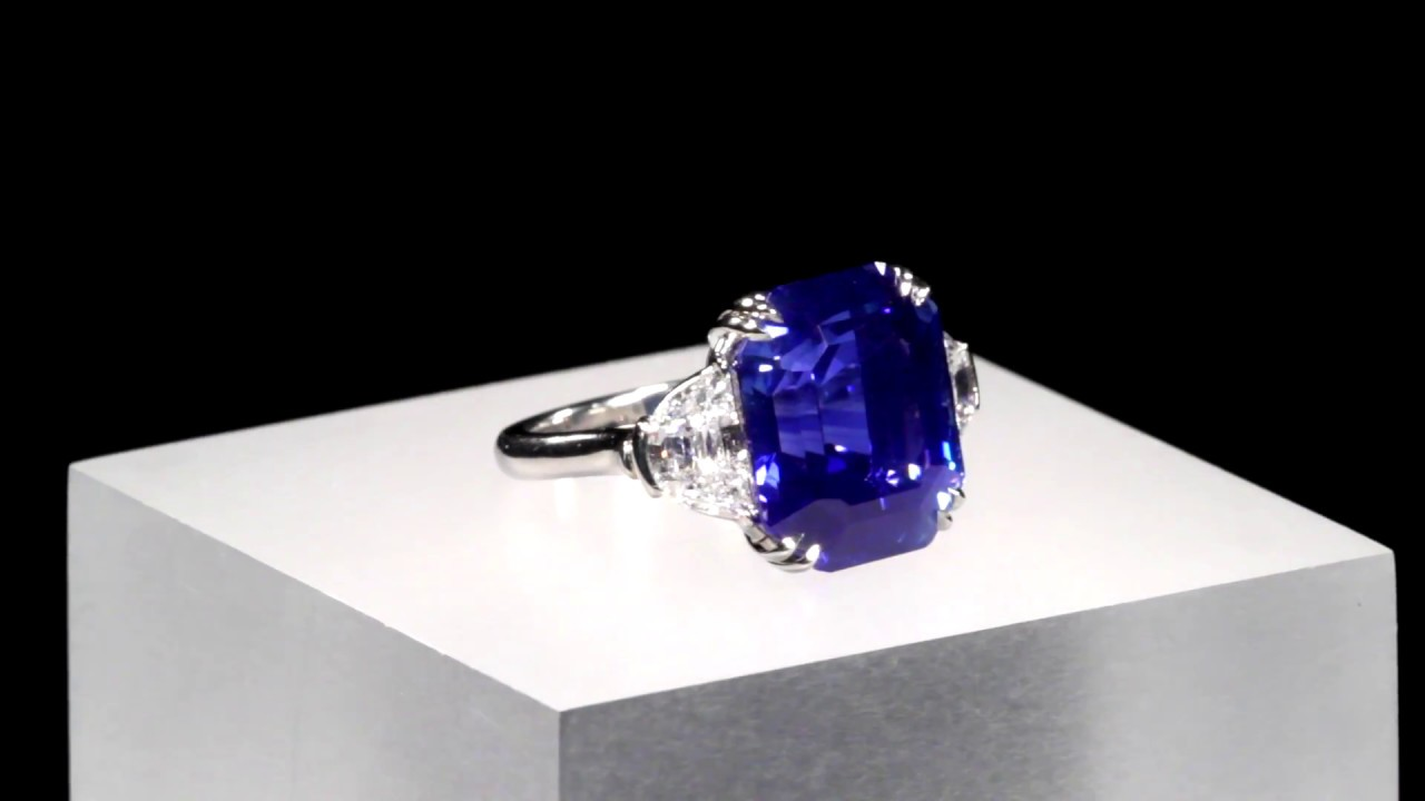 Untreated Kashmir Sapphire Ring 18.5 Carats from M.S. Rau ...