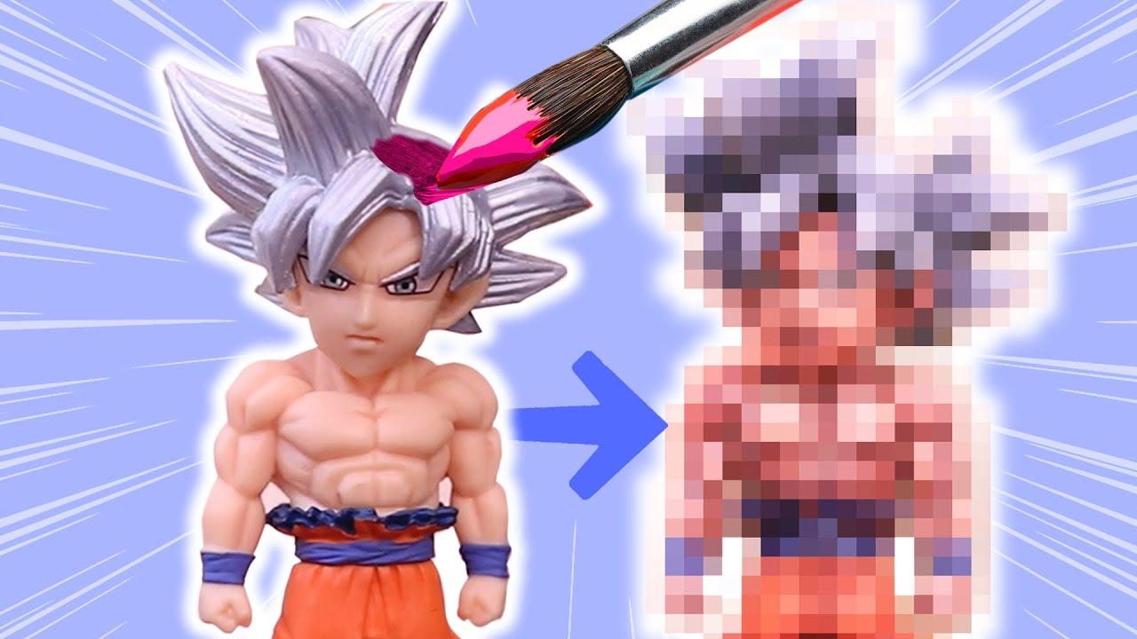 Artist RE-PAINTS a GOKU Anime Figure