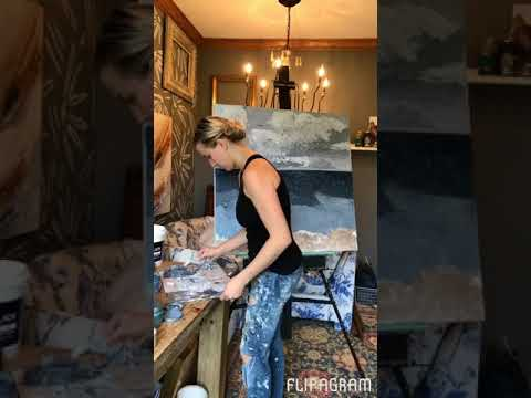 Copper Corners Art -Abstract Ocean Painting-