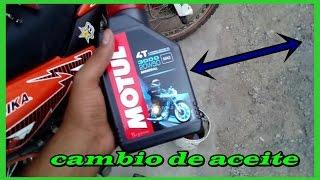 como cambiar el aceite a una moto// carlos dm 200 //dm 200